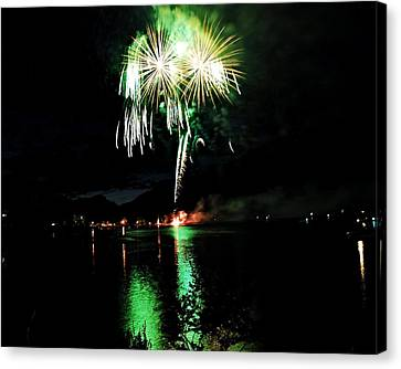 Osoyoos Lake Lights Up Canvas Print by Don Mann