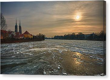 Early Morning Canvas Print - Ostrow Tumski by Sebastian Musial