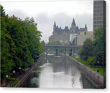 Ottawa Rideau Canal Canvas Print by Valentino Visentini