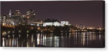 Canvas Print featuring the photograph Ottawa Skyline by Eunice Gibb