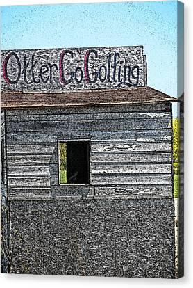 Otter Go Golfing Canvas Print by Cyryn Fyrcyd