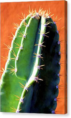 Canvas Print featuring the digital art Ouch by Brian Davis
