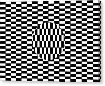 Ouchi Illusion Canvas Print by