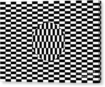 Ouchi Illusion Canvas Print by SPL and Photo Researchers