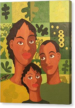 Our Family Canvas Print by Maggie Ruth