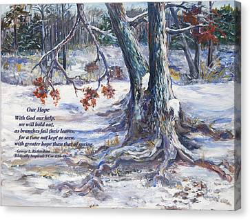 Our Hope With Poem Canvas Print by George Richardson