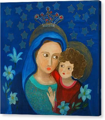 Our Lady Of Good Counsel Canvas Print by Maria Matheus Maria Santeira