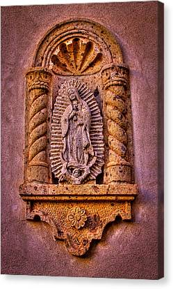 Our Lady Of Guadalupe At The Chapel In Tlaquepaque  Canvas Print by David Patterson