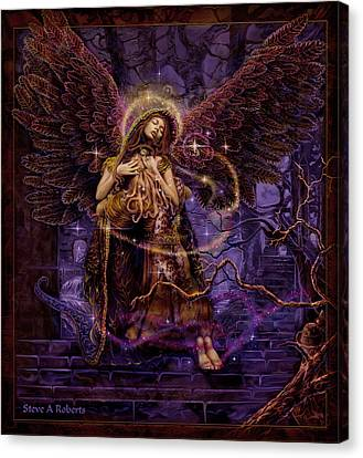 Canvas Print featuring the painting Our Lady Of Redemption by Steve Roberts