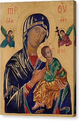 Our Mother Of Perpetual Help Canvas Print by Camelia Apostol