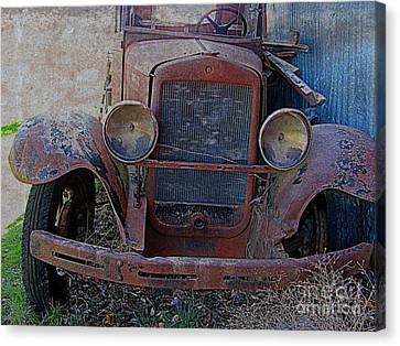 Canvas Print featuring the photograph Out Of Service  by Irina Hays