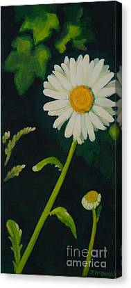 Canvas Print featuring the painting Out Of The Darkness by Janet McDonald