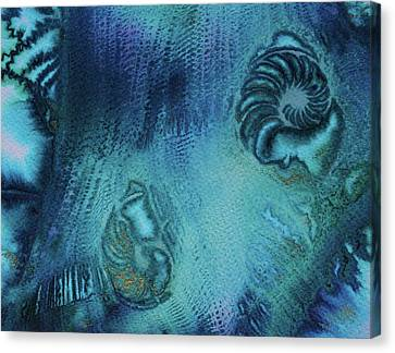 Canvas Print featuring the painting Out Of The Depths by Mary Sullivan