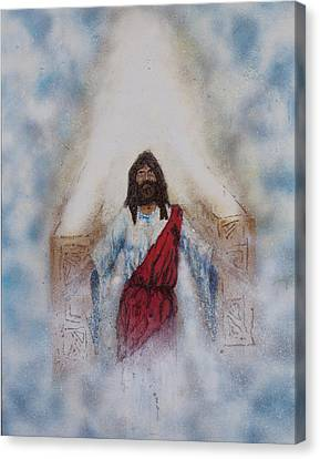 Out Of The Midst Of The Throne Came The Lamb Canvas Print by Thomas Lentz