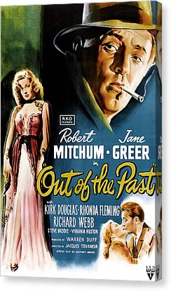 Out Of The Past, Jane Greer, Robert Canvas Print by Everett