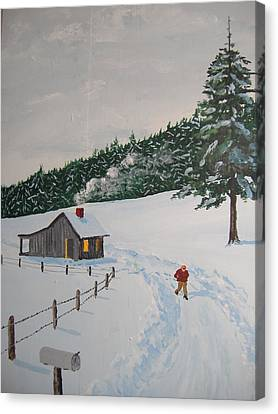 Out To Get The Mail Canvas Print by Norm Starks