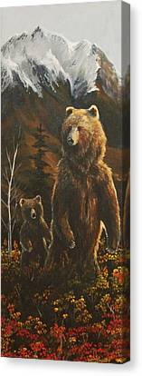 Out With Mom Canvas Print by Scott Thompson