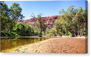 Canvas Print featuring the photograph Outback River by Paul Svensen