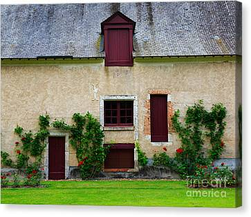 Outbuildings Of Chateau Cheverny Canvas Print by Louise Heusinkveld