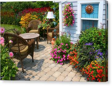Outdoor Patio Canvas Print