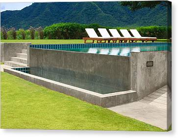Outdoor Swimming Pool Canvas Print