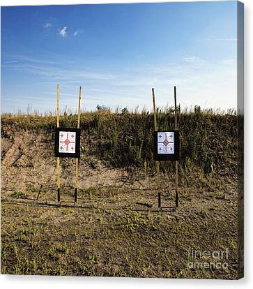 Outdoor Targets Canvas Print by Skip Nall
