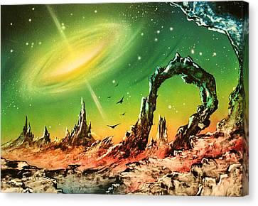 Outer Eye Galaxy Canvas Print by Tony Vegas