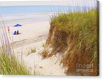 Canvas Print featuring the photograph Outerbanks by Lydia Holly