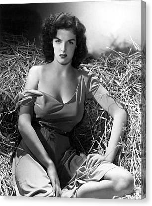 Bare Shoulder Canvas Print - Outlaw, Jane Russell, 1943, Cleavage by Everett