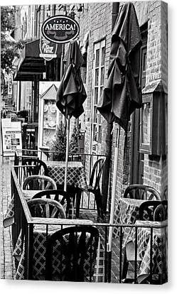 Canvas Print featuring the photograph Outside Dining  by Randall  Cogle