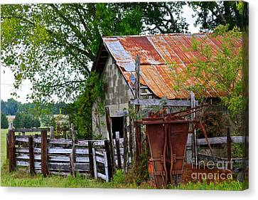 Outside Of Selma Canvas Print by Joe Finney