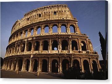 Outside Of The Collosseum, Rome, Italy Canvas Print by Paul Chesley