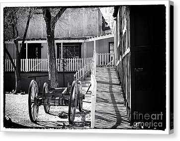 Outside The Saloon Canvas Print