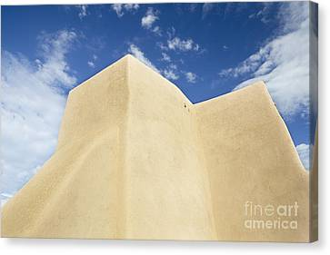 Outside Wall Of The San Francisco De Asis Mission Church Canvas Print by Bryan Mullennix