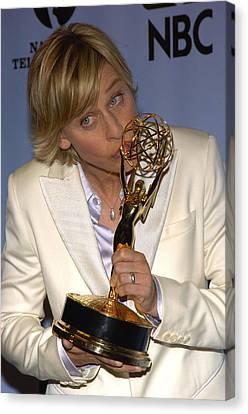 Outstanding Talk Show Host Winner Ellen Canvas Print