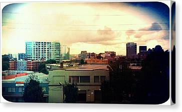Over The City  Canvas Print by Cathie Tyler