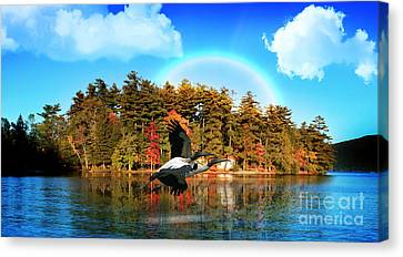 Over The Rainbow Canvas Print by Mark Ashkenazi