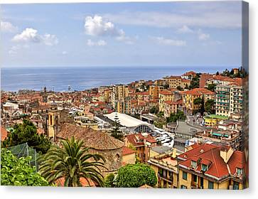 Over The Roofs Of Sanremo Canvas Print by Joana Kruse