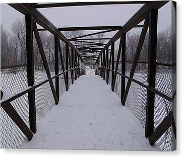 Over The Walking Bridge Canvas Print by Brian  Maloney