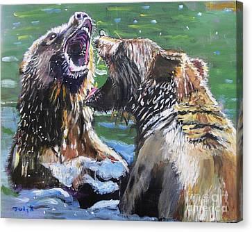 Overbearing Canvas Print by Judy Kay