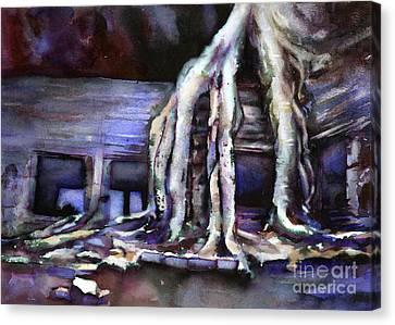 Overgrown Ruins- Cambodia Canvas Print by Ryan Fox