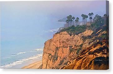 Overlooking Black's Beach La Jolla Canvas Print
