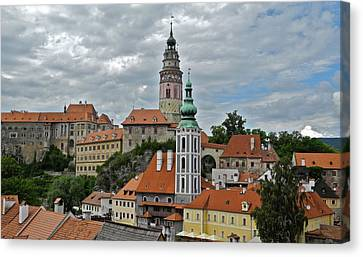 Canvas Print featuring the photograph Overview Of Cesky Krumlov by Kirsten Giving