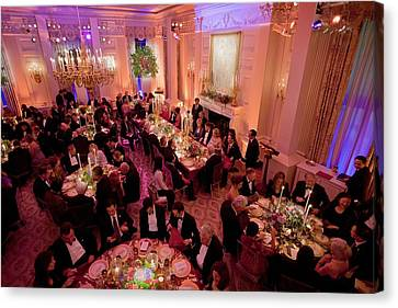 Overview Of The State Dinner Honoring Canvas Print
