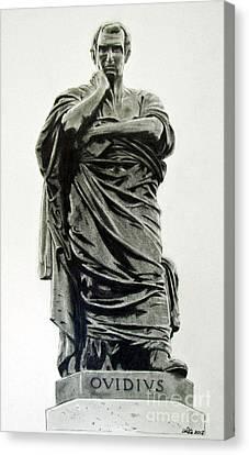 Ovidius Statue In Romania Canvas Print