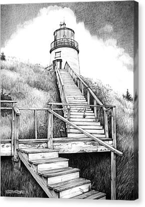 Owl's Head Lighthouse Canvas Print by Bob Manthey
