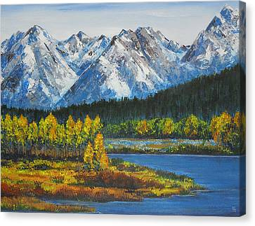 Oxbow-grand Tetons  Canvas Print