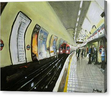 Oxford Circus Station Canvas Print by Paul Mitchell