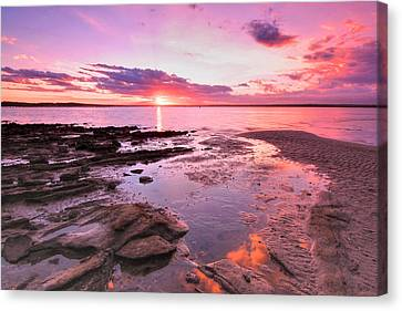 Canvas Print featuring the photograph Oyster Cove Sunset by Paul Svensen