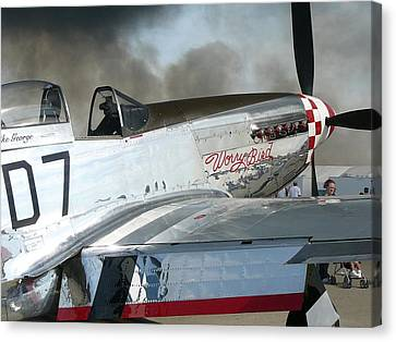 P-51 Worry Bird Canvas Print